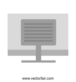 desktop computer technology isolated icon