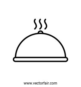 hot platter icon, line style