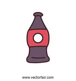 soda bottle drink line and fill style icon vector design