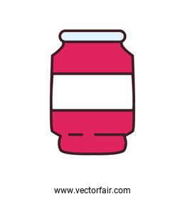 soda can drink line and fill style icon vector design