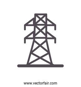 antenna line and fill style icon vector design