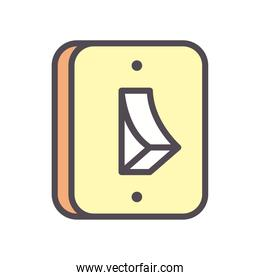 light switch line and fill style icon vector design