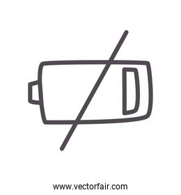 low battery line style icon vector design