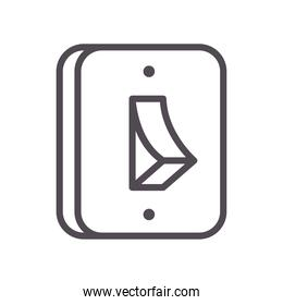 light switch line style icon vector design