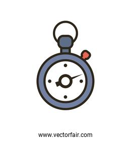 chronometer line and fill style icon vector design