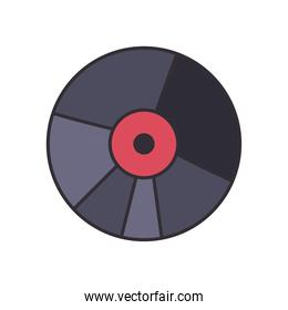 vinyl line and fill style icon vector design