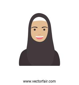 diversity people concept, cartoon woman with burka, flat style