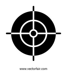 hunting target icon, silhouette style