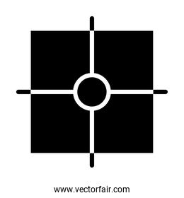 square target icon, silhouette style