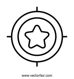 target with star icon ,  line style