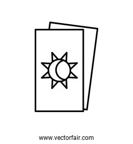 astrology concept, tarot cards icon, line style