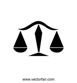astrology concept, Libra sign and Balance Scales symbol, silhouette style