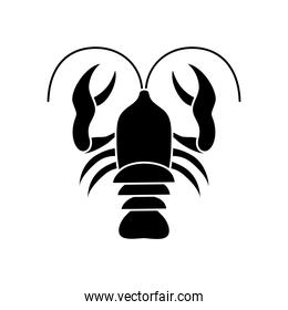 crab silhouette style