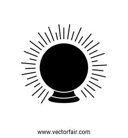astrology concept, magic ball icon, silhouette style