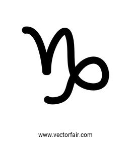 astrology concept, capricorn symbol, silhouette style