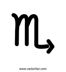 astrology concept, scorpio sign, the scorpion symbol, silhouette style