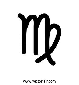 astrology concept, virgo sign, the virgo symbol, silhouette style