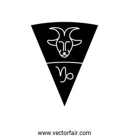 astrology concept, capricorn sign and goat symbol icon, silhouette style