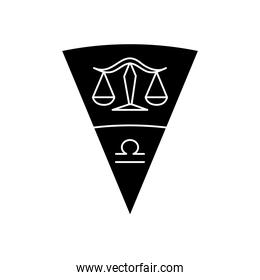 astrology concept, Balance Scales symbol of libra sign, silhouette style