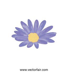 purple flower icon, detailed style