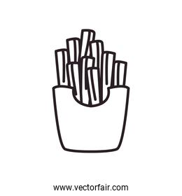 french fries line style icon vector design
