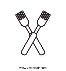 forks line style icon vector design