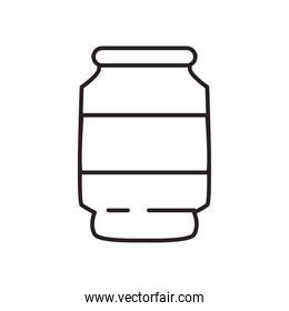 soda can drink line style icon vector design