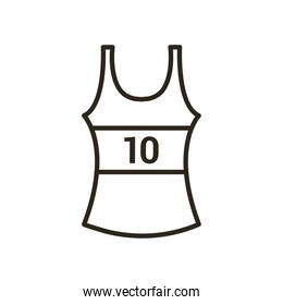shirt of basketball line style icon vector design
