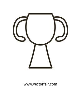 trophy line style icon vector design