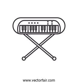 keyboard instrument line style icon vector design
