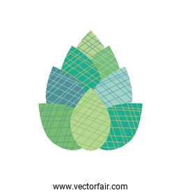 abstract leaves concept, leaves with striped design, flat style
