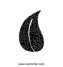 tropical leaf icon image, silhouette style
