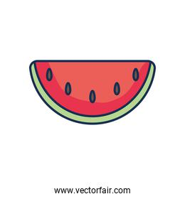 watermelon icon image, line fill style