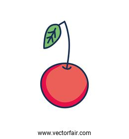 cherry icon image, line fill style