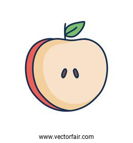 apple fruit icon, line fill style