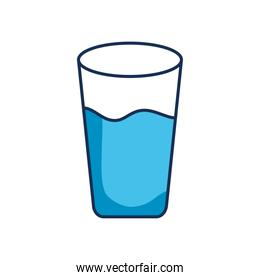 water glass icon, line fill style