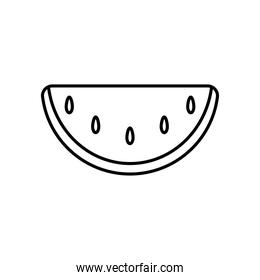 watermelon icon image, line style