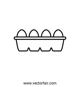 box with eggs icon, line style