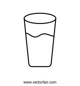 water glass icon, line style