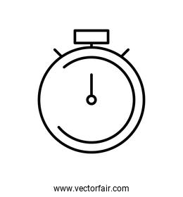 stopwatch icon image, line style