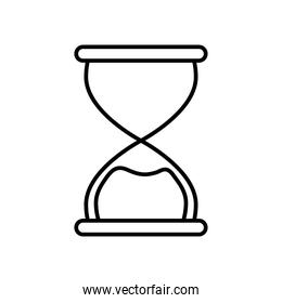 classic hourglass icon, line style