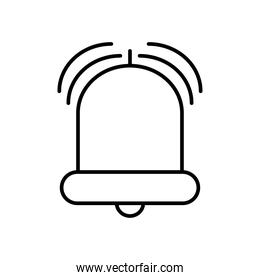 alarm bell icon, line style