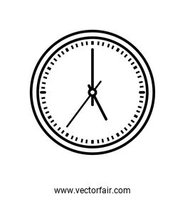 clock with 5 oclock time, line style