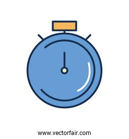 stopwatch icon image, line fill style