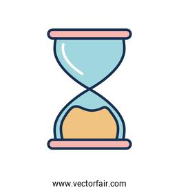 classic hourglass icon, line fill style