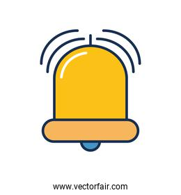 alarm bell icon, line fill style