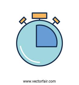 chronometer icon image, line fill style
