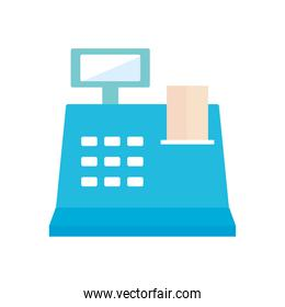 cash register icon, flat style