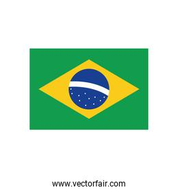 brazil flag flat style icon vector design