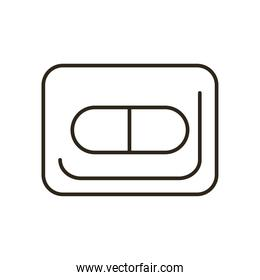 Medical pill line style icon vector design